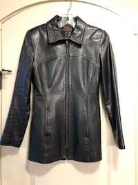 Black leather zip-up jacket Edmonton, T6W 2H3