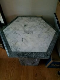 Marble coffee and side tables-3 piece set