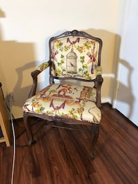 Beautiful Quirky Chair— comfortable fabric seat with painted bird cage and other cute details. Very clean and well cared for. Los Angeles, 90028