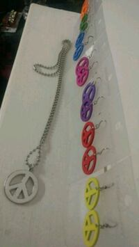 Peace 7 Days a week ear ring and necklace set Edmonton, T5G 2E2