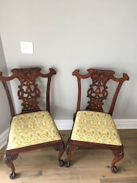 Set of 2 beautifully detailed and well sized cherry wood chairs  Oceanport, 07757