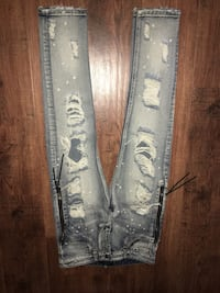 distressed blue-washed jeans Spring, 77373