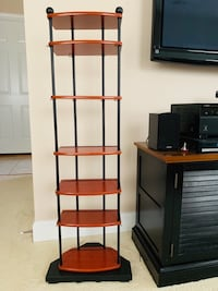 Media / Books display tower with adjustable wooden shelves Alexandria, 22312
