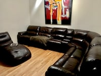 Real leather sectional moving sale Brampton, L6V