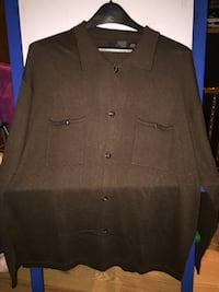 Mens brown button-up sweater Shelton, 06484