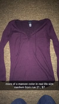 purple long-sleeved shirt Colfax, 46035