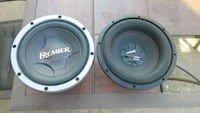 two black-and-gray Pioneer coaxial speakers Wichita, 67209
