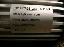 HVAC vacuum pumps dual stage 6cfm