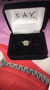 White Sapphire Ring on Sterling Silver Band  Virginia Beach, 23456
