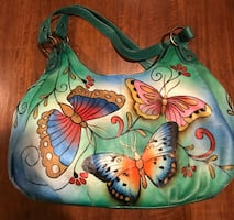 Anuschka hand-painted leather hobo bag, exquisite!