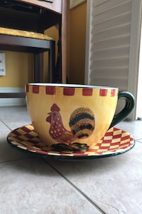 Giant Teacup & Saucer Planter (Rooster Themed) Toronto, M9M 1G3