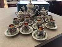 Old coffee set made in Italy in excellent condition  r.  Capodimonte italy all handpainted call me for more information  [TL_HIDDEN]  Laval, H7E 5N7