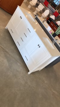 "72"" White Bathroom Vanity with Quartz/Marble Vaughan, L4L 8N6"