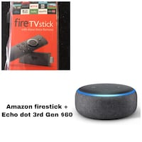Fire stick + Echo dot 3 - Brand new - $60 2391 mi