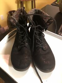 pair of black leather boots Bakersfield, 93314