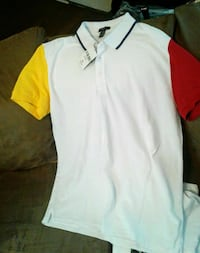 XL Red Yellow  Blue Triming Casual Sport T Pearl, 39208