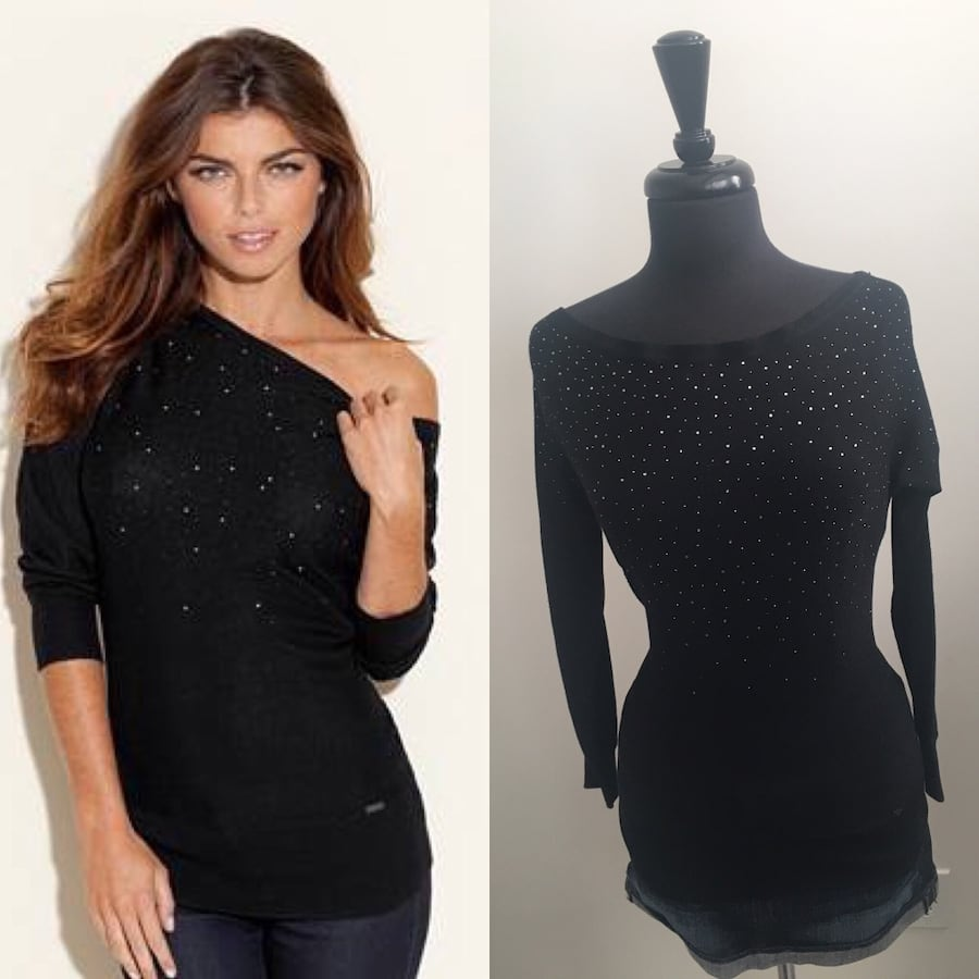 New dazzled cowl neck sweater size S