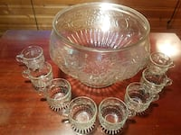 Glass Punch bowl set  Lansdale, 19446