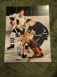 Bobby Hull and Johnny Bower autographed 8x10 photo Edmonton, T6H 5G1