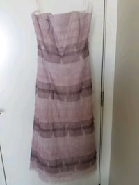 BCBG violet purple chiffon dress