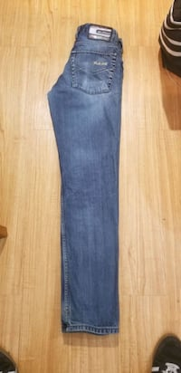 blue denim straight cut jeans Calgary, T2A