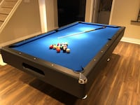 blue and black pool table Pickering, L1V 5S8