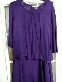 Sweater size L & skirt size 6