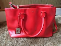 red Michael Kors leather tote bag Dickerson, 20842