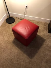 Red Pleather Foot Rest/Ottoman