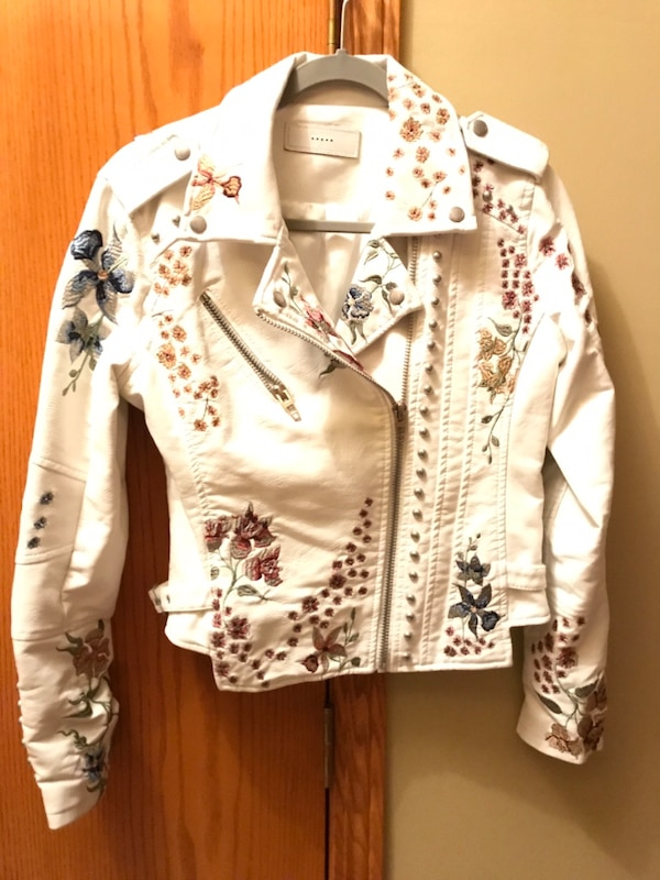 Nnew- Leather Embroidered & Stud beaded jacket.   New fecb34be-7304-4250-98a3-5215767634f9