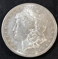 1890-S Morgan Silver Dollar AU  Better Date Redding