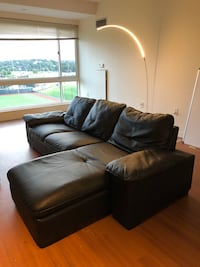 IKEA L-shaped leather couch Boston