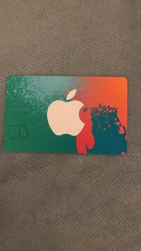 Fully loaded 50$ iTunes gift card
