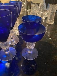 Turn of the century blue glass dining set Arlington, 22201