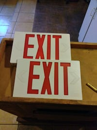 To exit signs red and white one has lighting   Phoenix, 85029