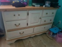 white wooden dresser with mirror and end table 874 km