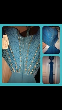 Size 4 women's blue sequin sweetheart dress Carrollton, 75006