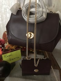 NEW Coach FAYE mixed leathers In OXBLOOD Taylorsville, 28681