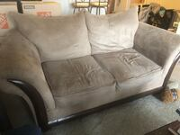 Tan Love seat couch