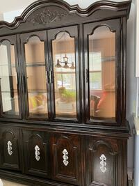 brown wooden china cabinet with cabinet Longueuil, J4V 2H7