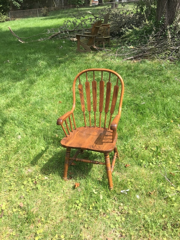Swell Wooden Chair Set 6 Chairs 2 Arm Chairs And 4 Without Arms Alphanode Cool Chair Designs And Ideas Alphanodeonline