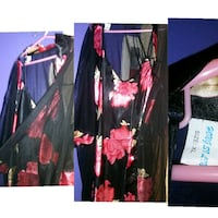 women's black and pink floral dress Calgary, T2G 0Z5