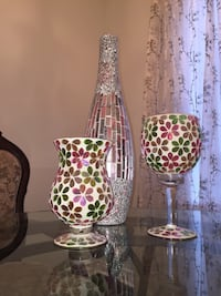 two brown-and-green floral vases Vaughan, L4H 2V8