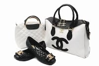 black and white leather tote bag Toronto, M6M 3A9