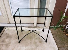 Side table / Glass top/ Patio table