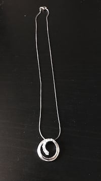 Silver chain w/ diamond pendant  Peterborough, K9J