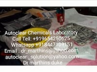 SSD CHEMICALS AUTOMATIC SOLUTION FOR CLEANING BLACK MONEY AND CLEANING MACHINE /Call + [TL_HIDDEN] 5 TOKYO