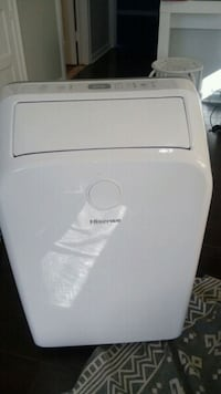white and gray portable air cooler