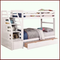 Twin/twin bunkbed with storage staircase & bottom  West Covina