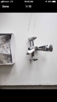 Specialty taps for claw foot tub